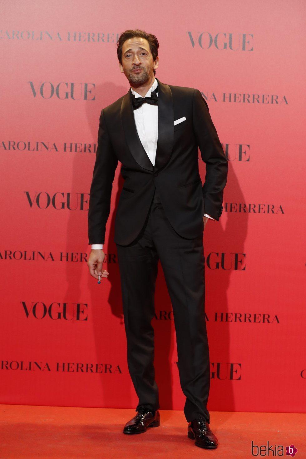 Adrien Brody en la fiesta del 30 aniversario de Vogue