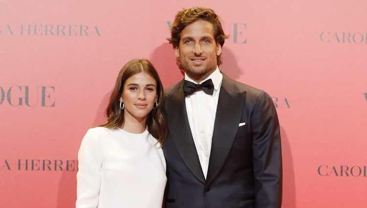 Feliciano López y Sandra Gago en la fiesta del 30 aniversario de Vogue