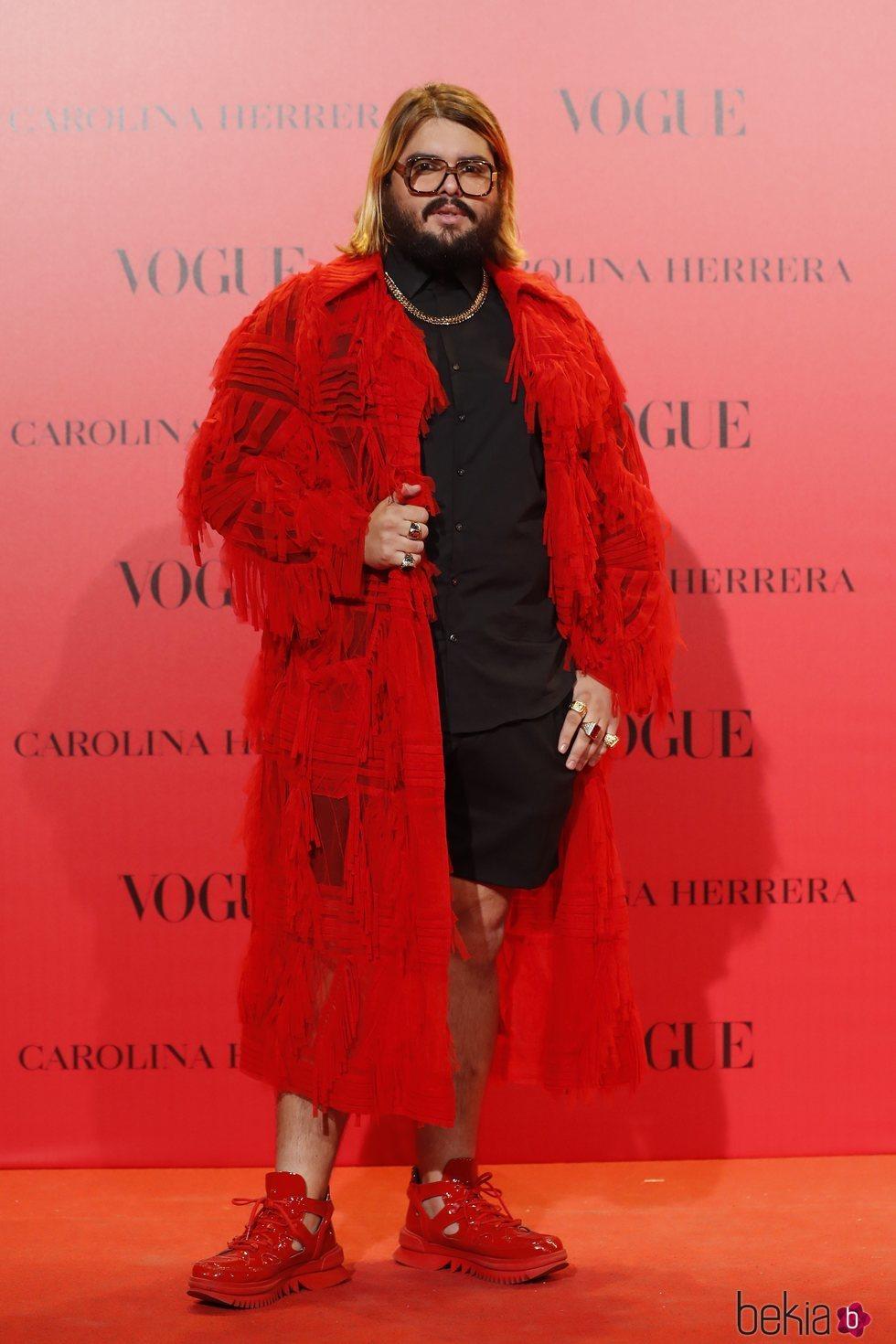Brays Efe en la fiesta del 30 aniversario de Vogue
