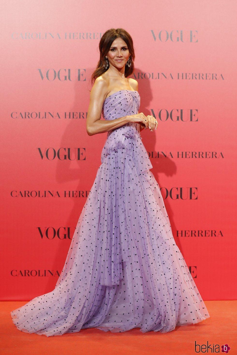 Goya Toledo en la fiesta del 30 aniversario de Vogue