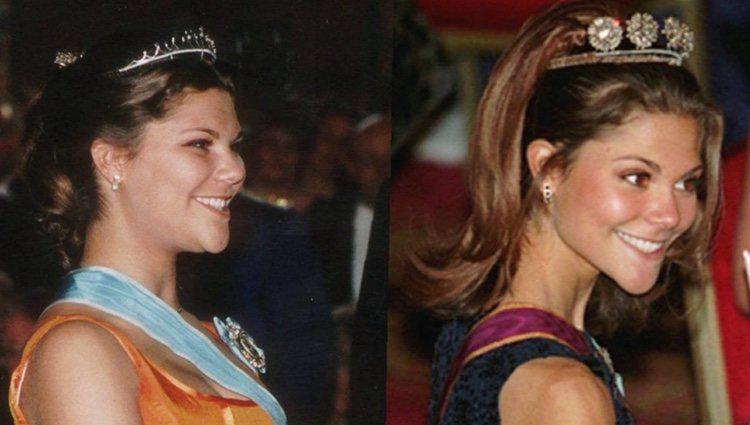 Victoria de Suecia en 1996 y Victoria de Suecia en 1997, cuando sufría anorexia