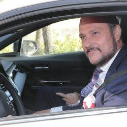 Nacho Montes llegando a la boda de Diego Matamoros y Estela Grande