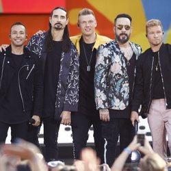 El grupo Backstreet Boys al finalizar un concierto en NY