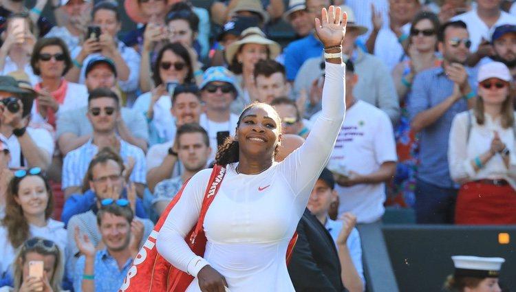 Serena Williams durante la final de torneo de Wimbledon