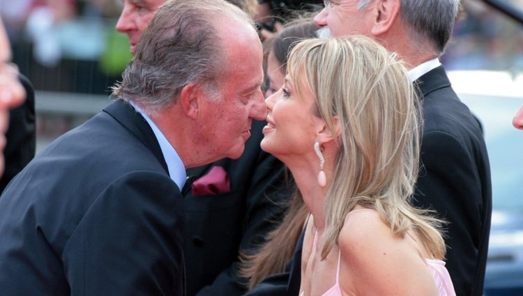 Corinna zu Sayn-Wittgenstein y el Rey Juan Carlos en los Premios Laureus