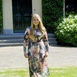 La Princesa Amalia de Holanda durante el posado veraniego 2018
