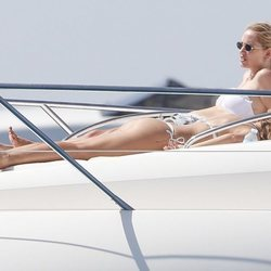 Chiara Ferragni disfrutando de su despedida de soltera en Ibiza