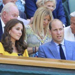 Los Duques de Cambridge en la final masculina de WImbledon 2018