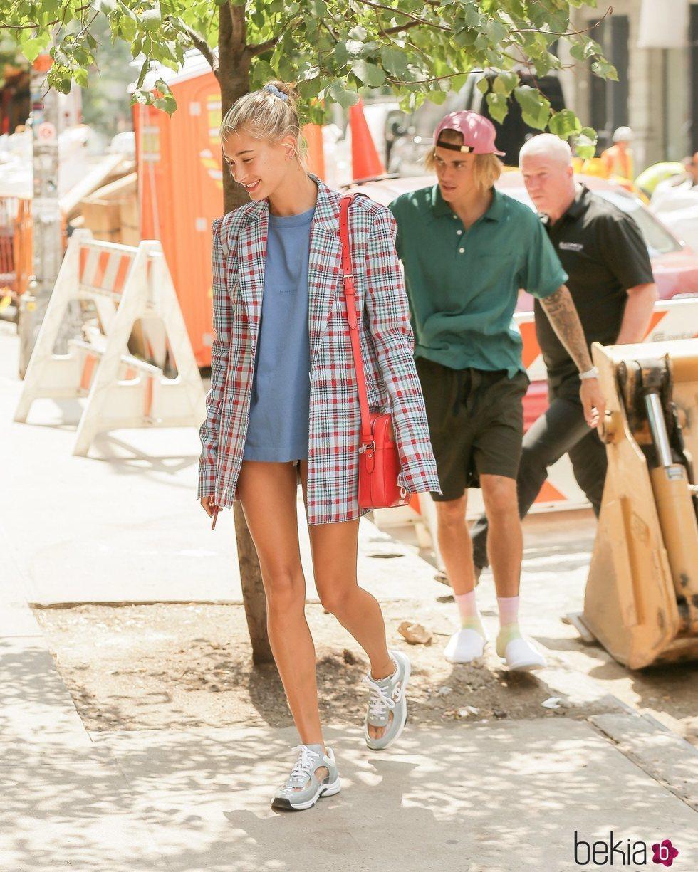 Justin Bieber y Hailey Baldwin pasean por las calles de Nueva York