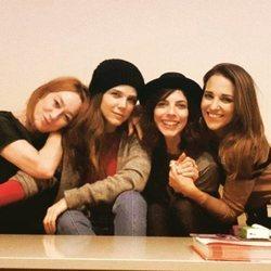 Paula Echevarría, Maribel Verdú, Juana Acosta y Gracia Querejeta en el set de 'Ola de crímenes'