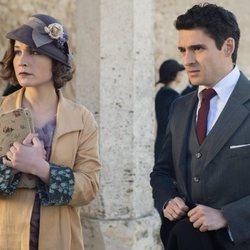 Nadia de Santiago y Nico Romero en la tercera temporada de 'Las chicas del cable'