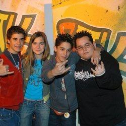 Víctor Elías, Natalia Sánchez, Adrián Rodríguez y Andrés de la Cruz como 'Santa Justa Klan'