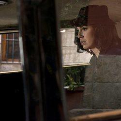 Blanca Suárez durante una de las secuencias de las tercera temporada de 'Las chicas del cable'