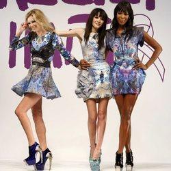 Annabelle Neilson junto a Kate Moss y Naomi Campbell en la Fashion Week de Londres de 2010