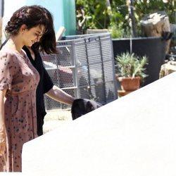 Penélope Cruz durante el rodaje de 'Dolor y Gloria'