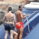 Rafa Nadal de vacaciones con amigos en Ibiza