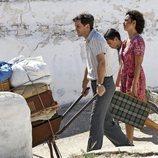 Raúl Arévalo junto con la actriz Penélope Cruz en una de las escenas de 'Dolor y Gloria'