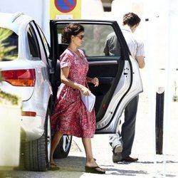 Penélope Cruz llegando al rodaje de 'Dolor y Gloria'