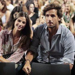 Feliciano López y Sandra Gago en el concierto de Alejandro Fernández