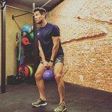 Jaime Cantizano haciendo ejercicio en el gimnasio