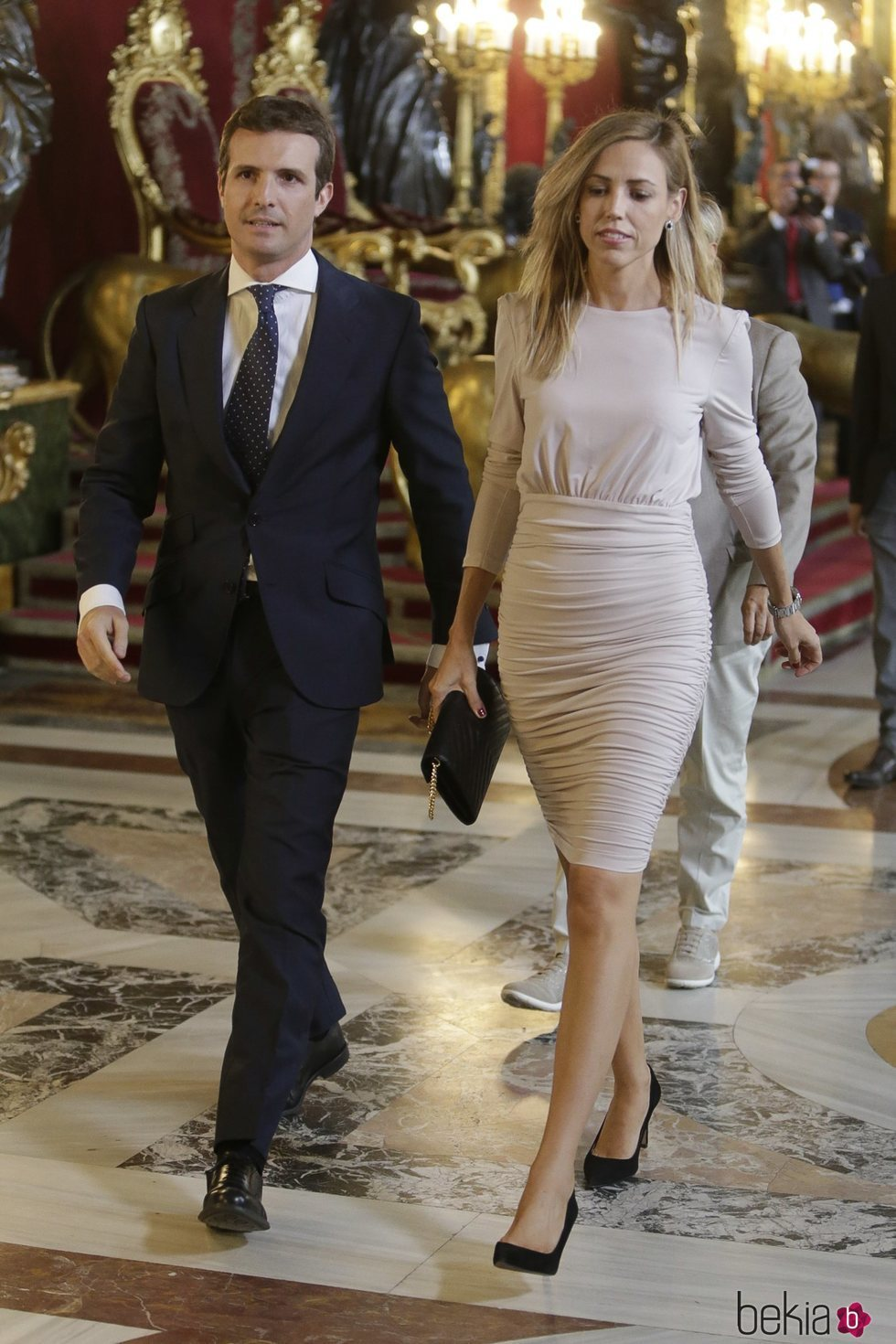 Pablo Casado y su mujer recibidos por los Reyes de España