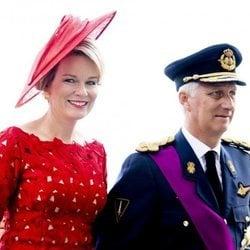 Felipe y Matilde de Bélgica muy sonrientes en la celebración del Día Nacional