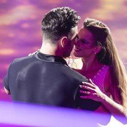 David Bustamante y Yana Olina, muy cariñosos en la gala final de 'Bailando con las estrellas'