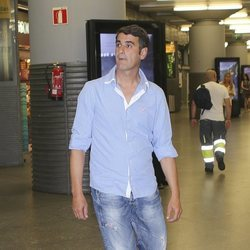 Jesulín de Ubrique en una estación de tren de Madrid