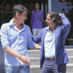 Jesulín de Ubrique y Fran Rivera a la salida de los estudios de Atresmedia