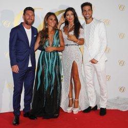 Leo Messi y Antonella Roccuzzo junto a Cesc Fábregas y Daniella Semaan en Ibiza