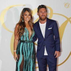 Leo Messi y Antonella Roccuzzo en la fiesta postboda de Cesc Fábregas y Daniela Semaan