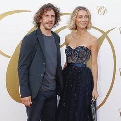 Carles Puyol y Vanessa Lorenzo en la fiesta postboda de Fábregas