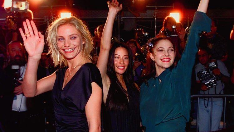 Cameron Díaz, Lucy Liu y Drew Barrymore en la premiere mundial de 'Los ángeles de Charlie'