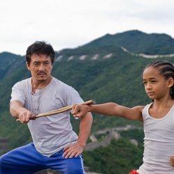 Jaden Smith con Jackie Chan en 'The Karate Kid'