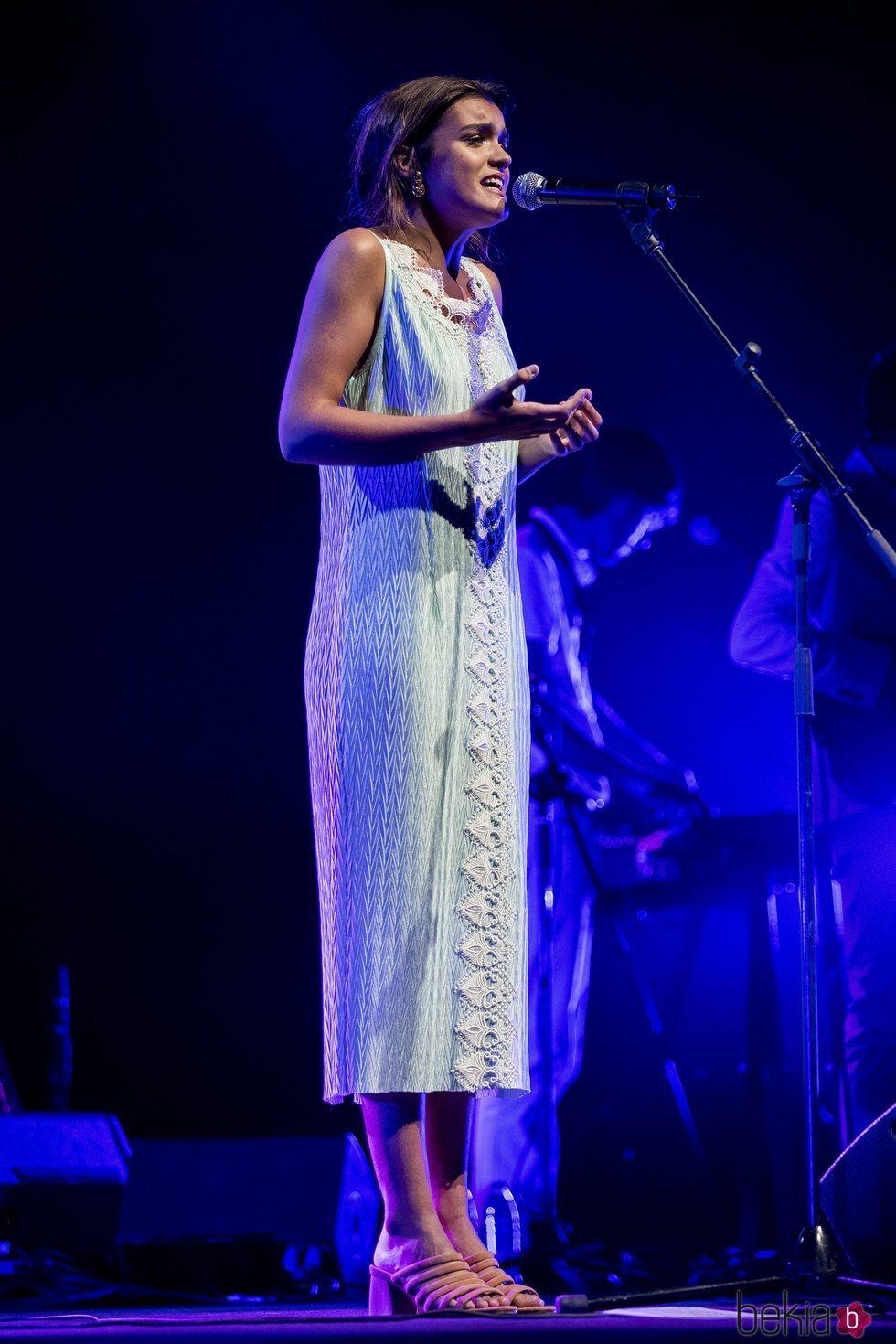Amaia Romero durante su concierto en el Teatro Real