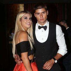 Anita Matamoros y Javier Tudela en su fiesta de cumpleaños