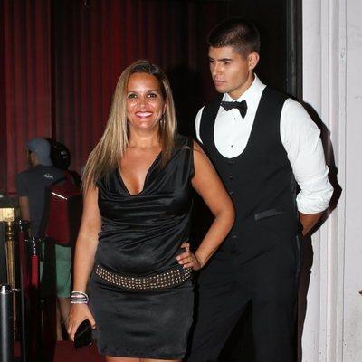 Marta López con Javier Tudela en la fiesta de cumpleaños de Anita Matamoros