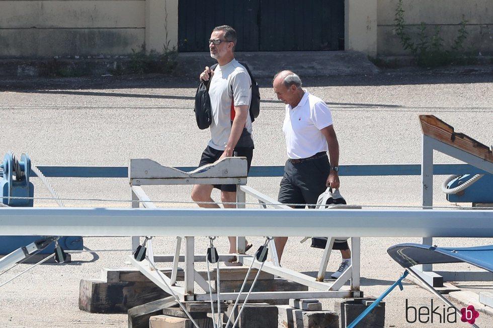 El Rey Felipe VI llega a Mallorca para salir a navegar