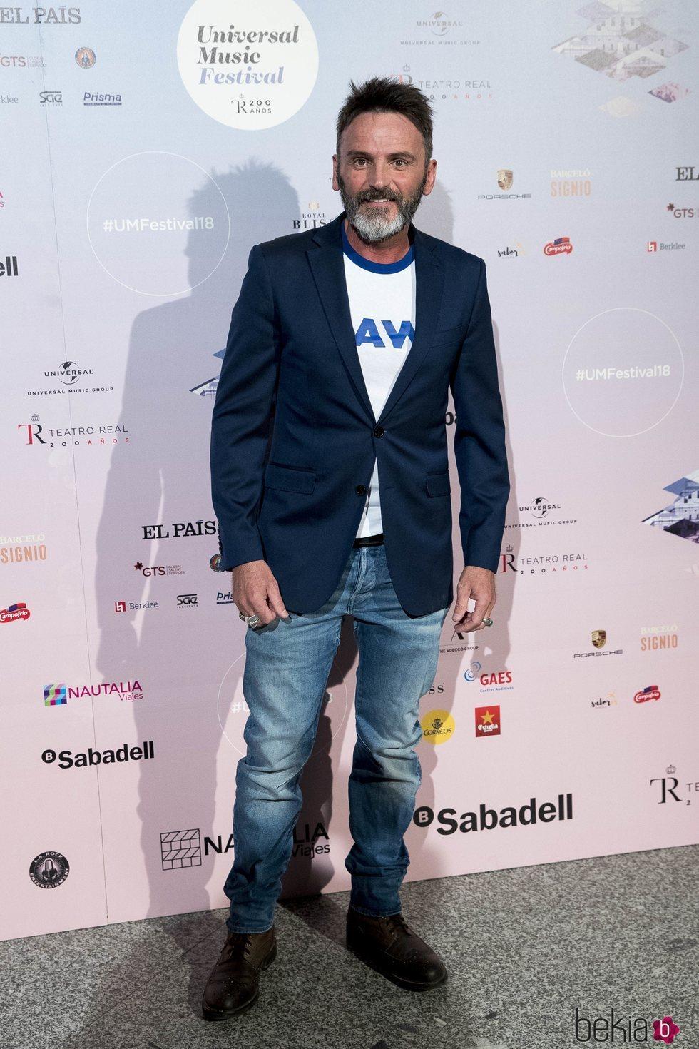 Fernando Tejero en el concierto de Pablo López en el Teatro Real
