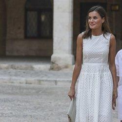 La Reina Letizia en el Palacio de La Almudaina en su posado de verano 2018 en Mallorca