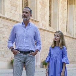 El Rey Felipe y la Princesa Leonor en su posado de verano 2018 en Mallorca