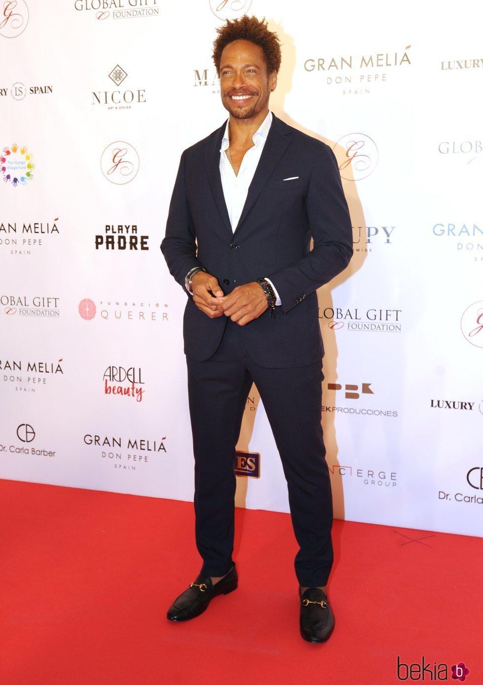 El actor Gray Dourdan durante la gala Global Gift Marbella 2018