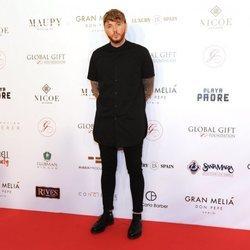 El cantante James Arthur durante la celebración de la gala Global Gift Marbella 2018