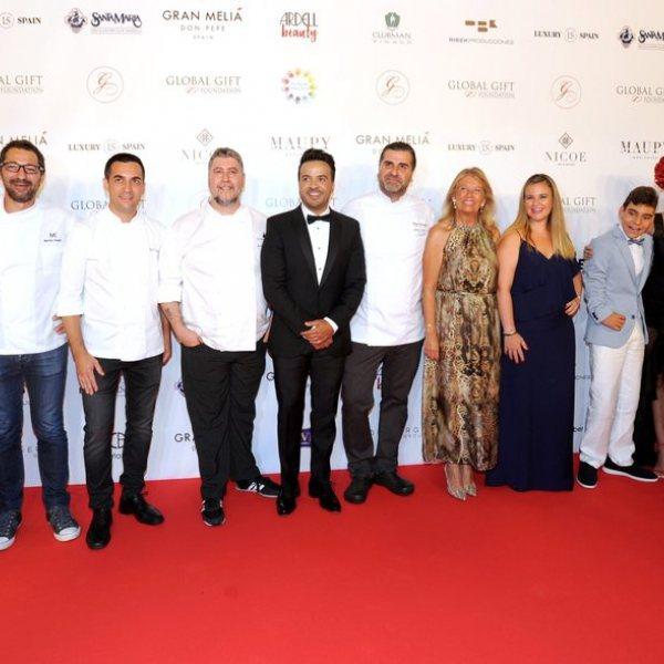 Famosos en la gala Global Gift de Marbella 2018