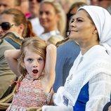 Estela de Suecia se aburre en la celebración del 41 cumpleaños de Victoria de Suecia