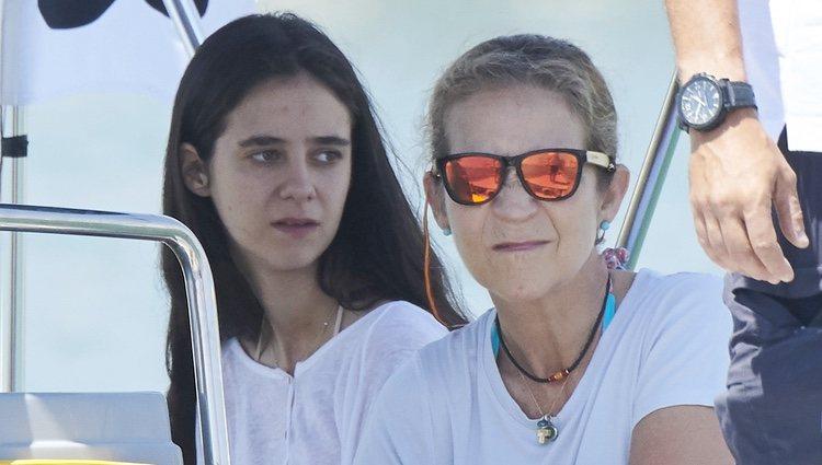 La Infanta Elena y Victoria Federica en la Copa del Rey de Vela 2018