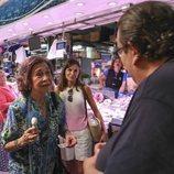 La Reina Sofía y la Reina Letizia comprando Lotería en Mallorca