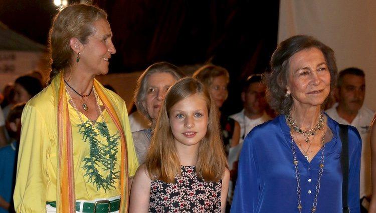 La Princesa Leonor, la Reina Sofía, la Infanta Elena e Irene de Grecia en el concierto de Ara Malikian en Mallorca
