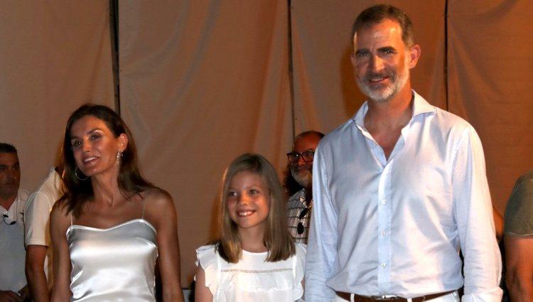 Los Reyes Felipe y Letizia y la Infanta Sofía en el concierto de Ara Malikian en Mallorca