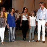 La Familia Real y la Infanta Elena en el concierto de Ara Malikian en Mallorca